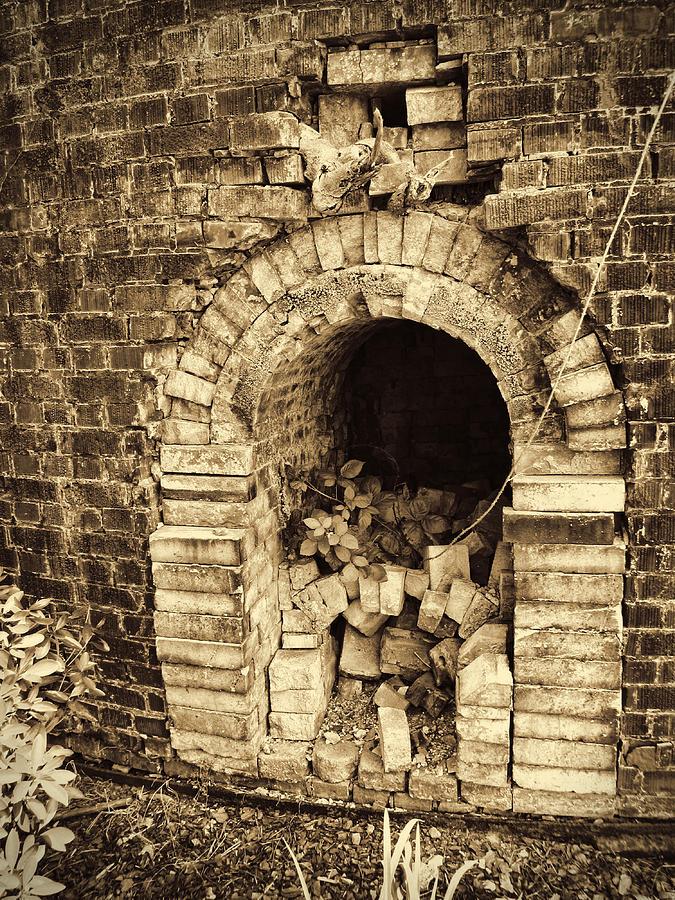 Brick Kiln Photograph - Historical Brick Kiln Oven Opening Decatur Alabama Usa by Kathy Clark