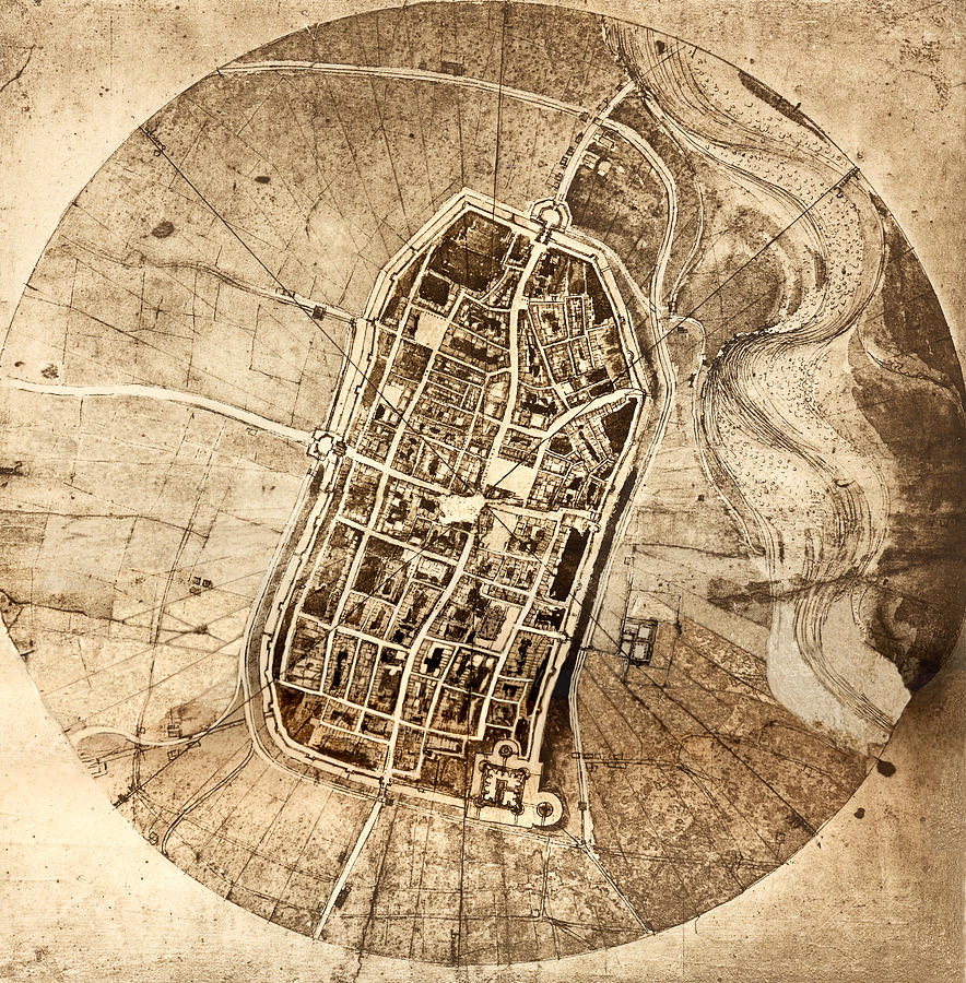 Historical City Map Of Imola Italy Photograph by Sheila Terry