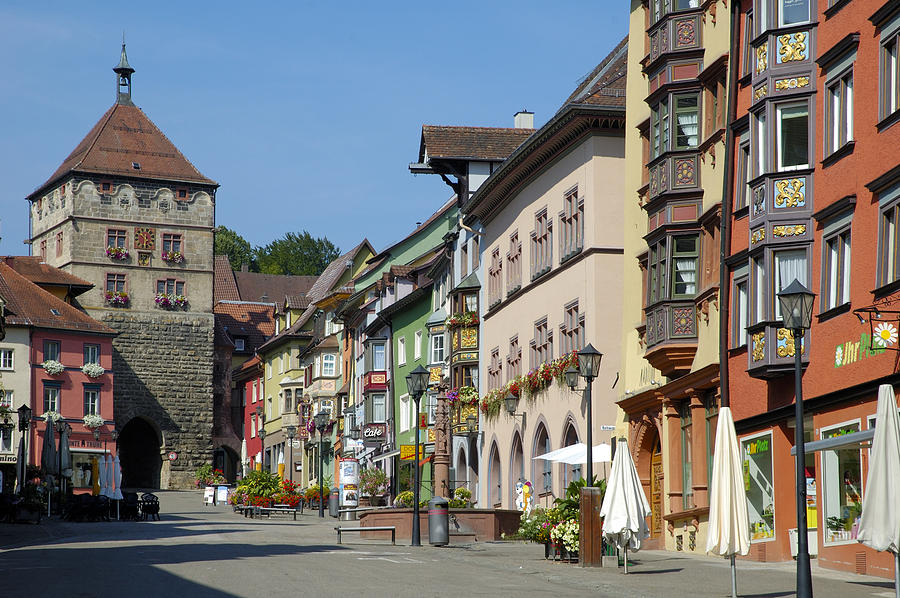 Old Photograph - Historical Old Town Rottweil Germany by Matthias Hauser