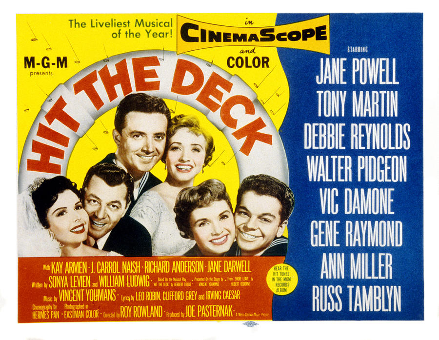 1950s Movies Photograph - Hit The Deck, Ann Miller, Tony Martin by Everett