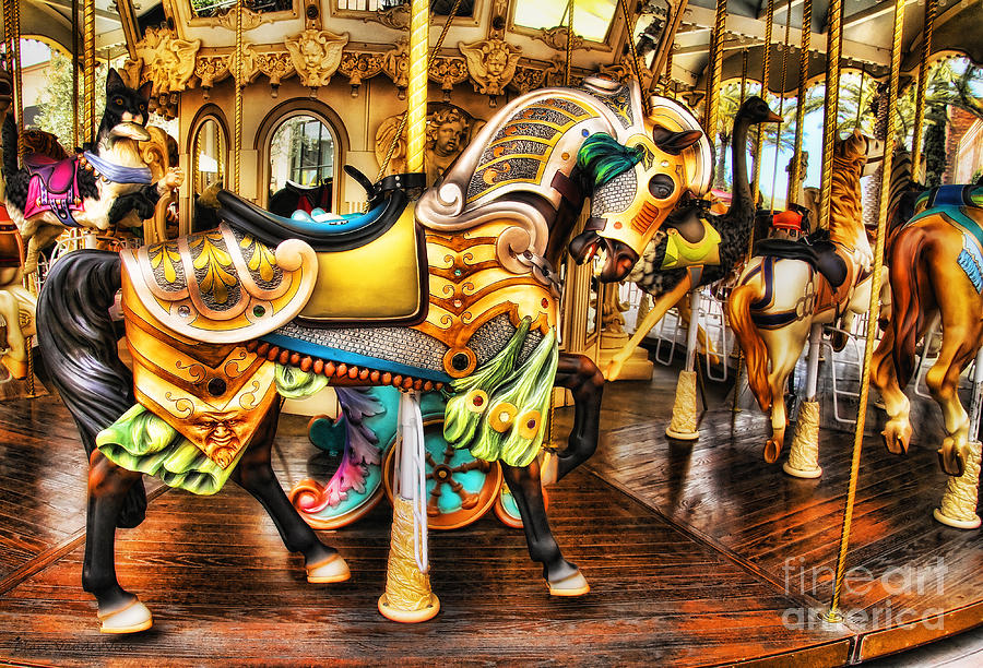 Carousel Photograph - Hitch A Ride by Clare VanderVeen