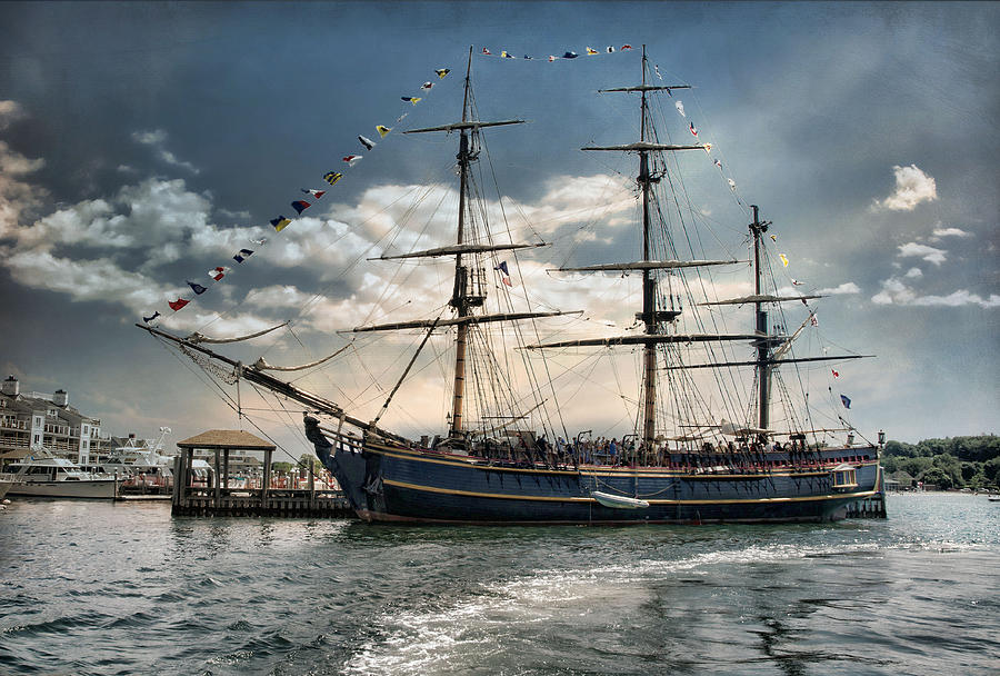 HMS Bounty Newport by Robin-Lee Vieira