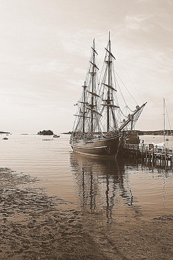 HMS Bounty Preparing To Set Sail by Doug Mills