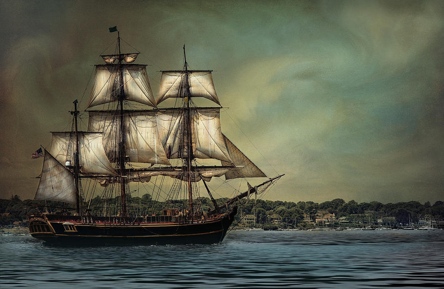 Tall Photograph - Hms Bounty by Robin-Lee Vieira