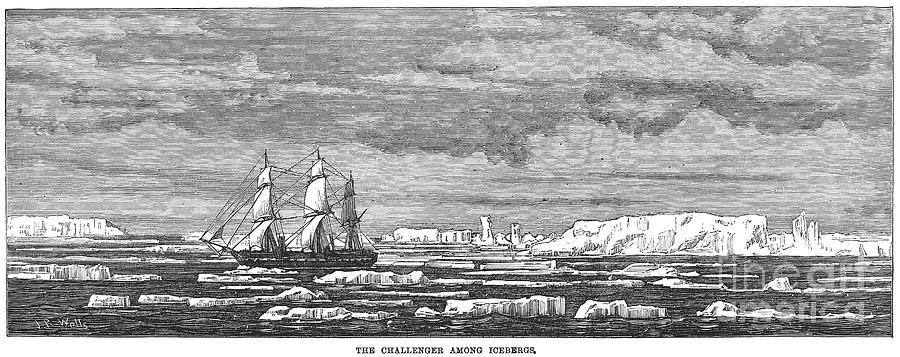 1874 Photograph - Hms Challenger, 1874 by Granger