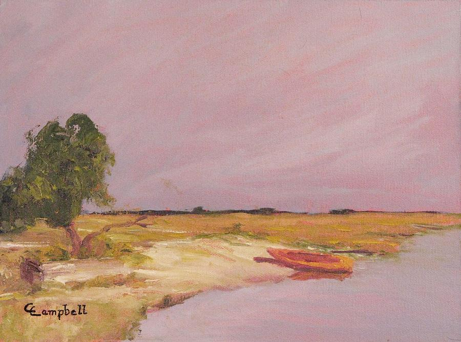 Marsh Painting - Hobcaw Landing by Cecelia Campbell