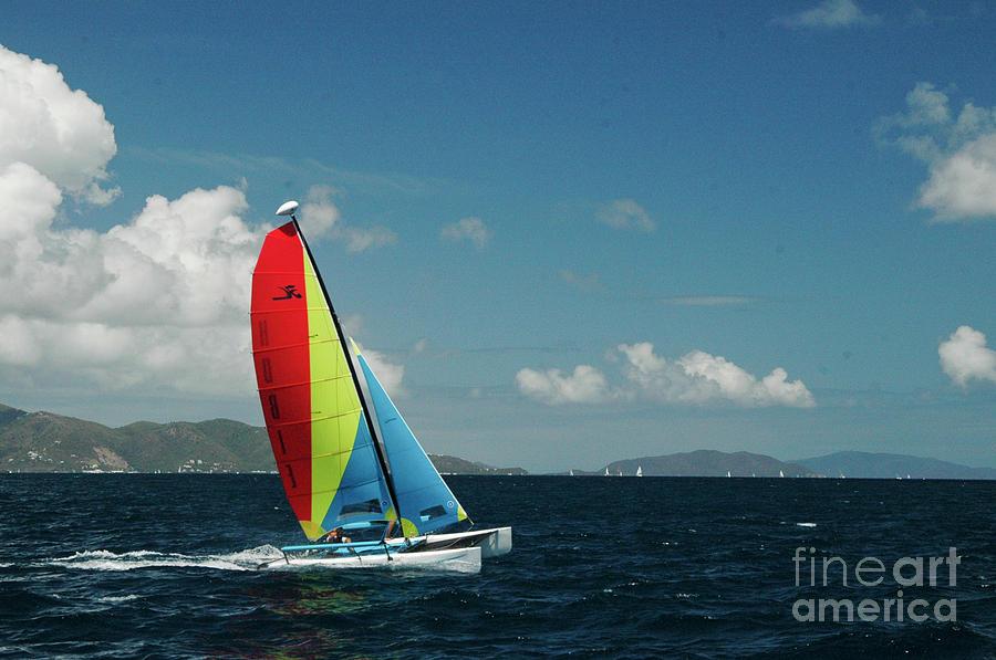 Caribbean Photograph - Hobiecat 1 by Tim Mulina