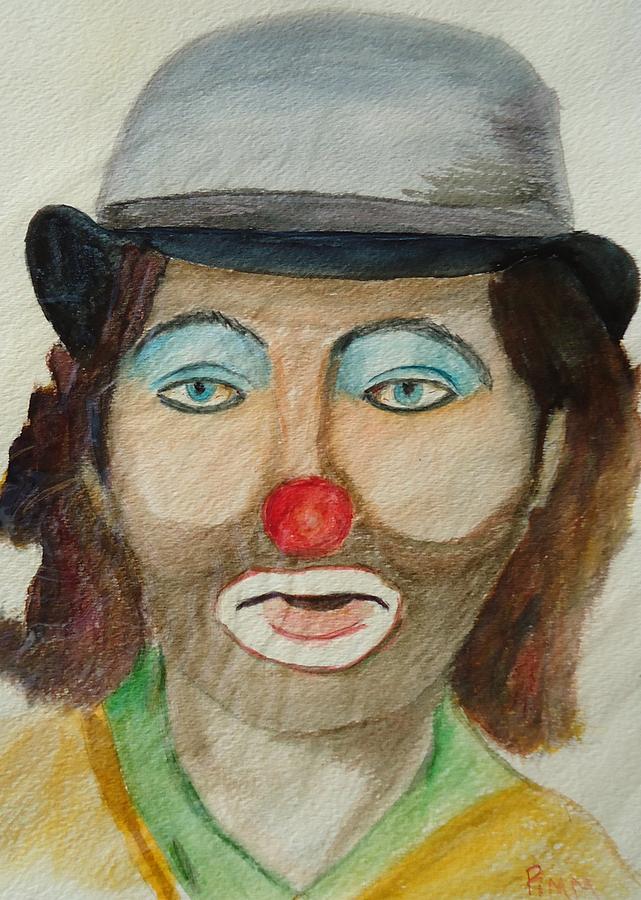 Clown Painting - Hobo Clown by Betty Pimm