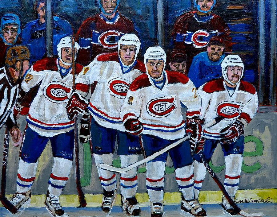 Hockey Painting - Hockey Art At Bell Center Montreal by Carole Spandau