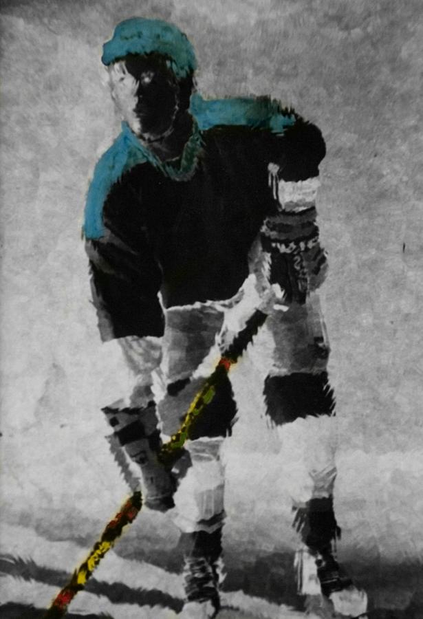 Hockey Photograph - Hockey Dude by Kenneth Drylie