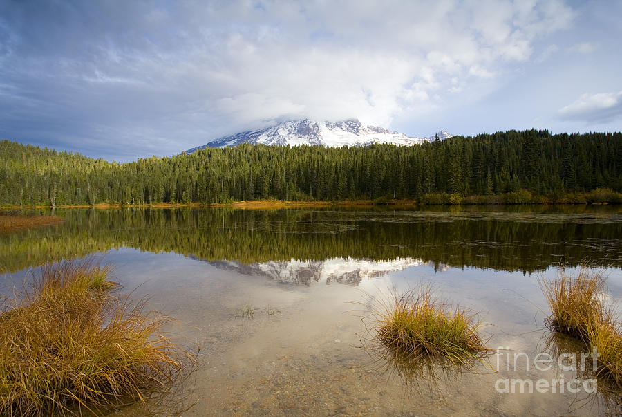 Rainier Photograph - Holding Back The Tempest by Mike  Dawson