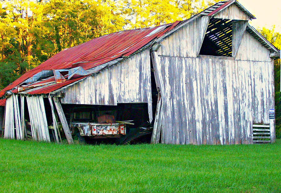 Barn Photograph - Holding On by Robin Pross