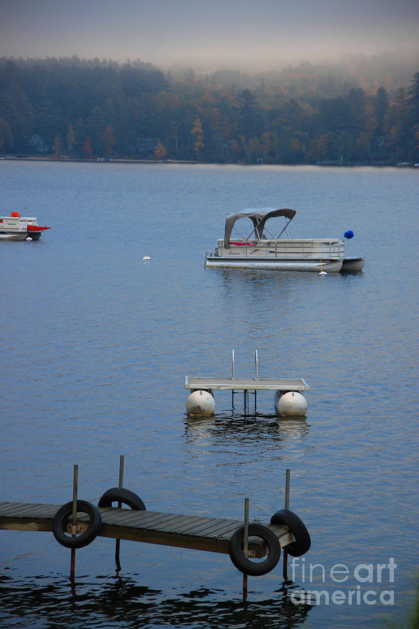 Little Squam Lake Photograph - Holding On To Summer by Michael Mooney