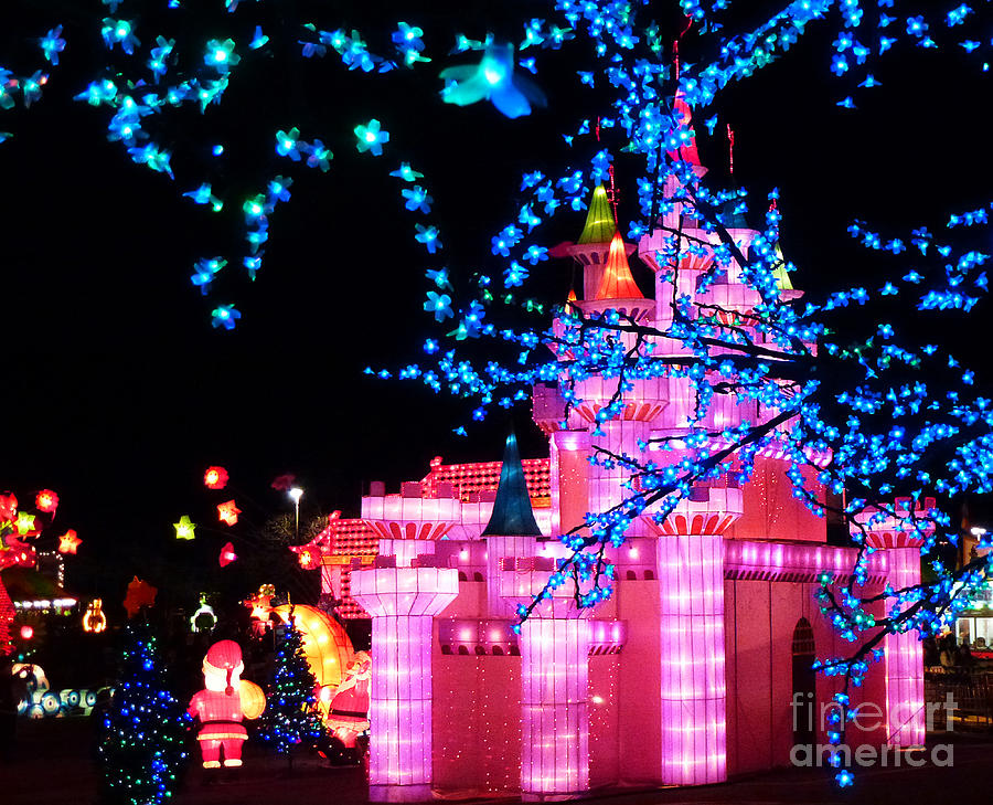 Disneyland Photograph - Holiday Lights 8 by Xueling Zou