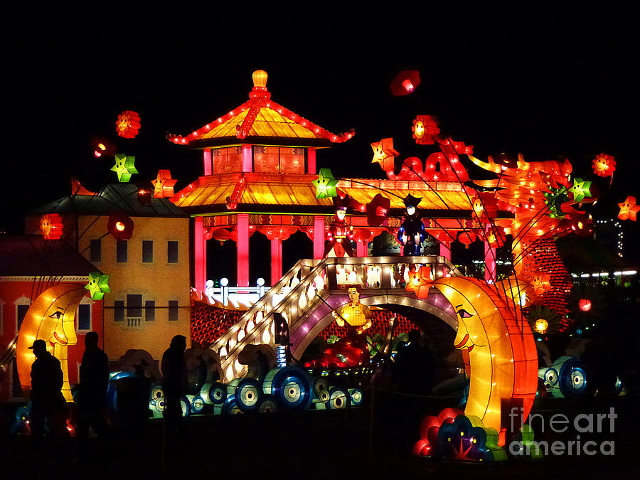 Asia Photograph - Holiday Lights 9 by Xueling Zou