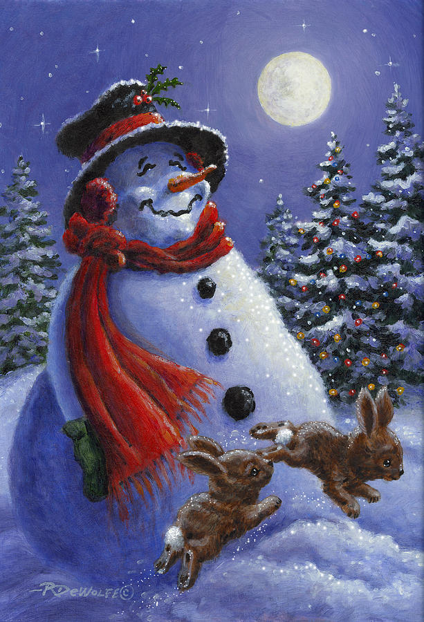 Winter Painting - Holiday Magic by Richard De Wolfe