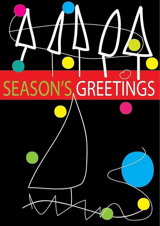 Happy Holidays Drawing - Holiday Season 1 by Richard Lanctot