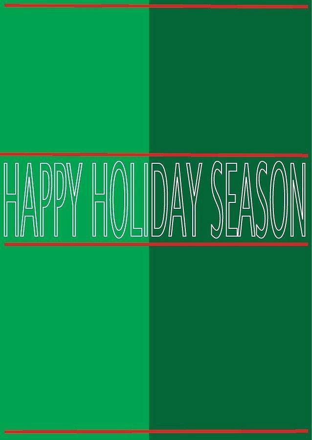 Happy Holidays Drawing - Holiday Season 4 by Richard Lanctot