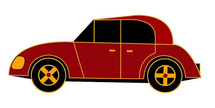 Citroen Digital Art - Hollandes Beach Car - Virtual Car by Asbjorn Lonvig