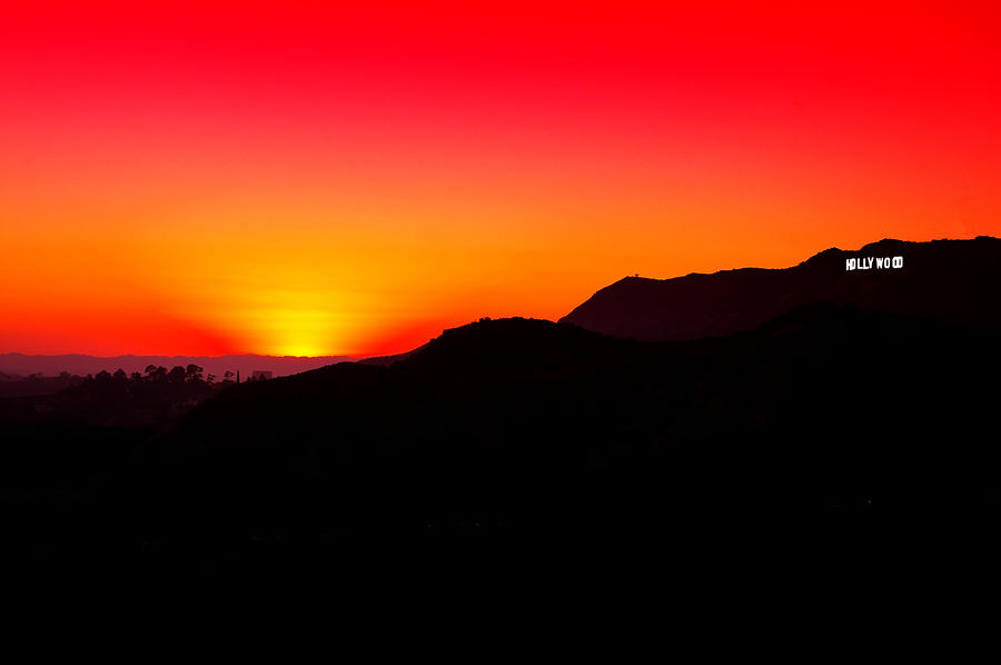 Hollywood Sign Sunset Photograph By Jera Sky