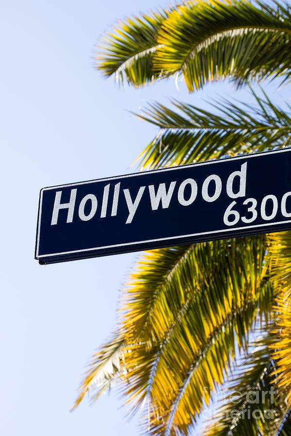 Hollywood Street Sign Los Angeles California