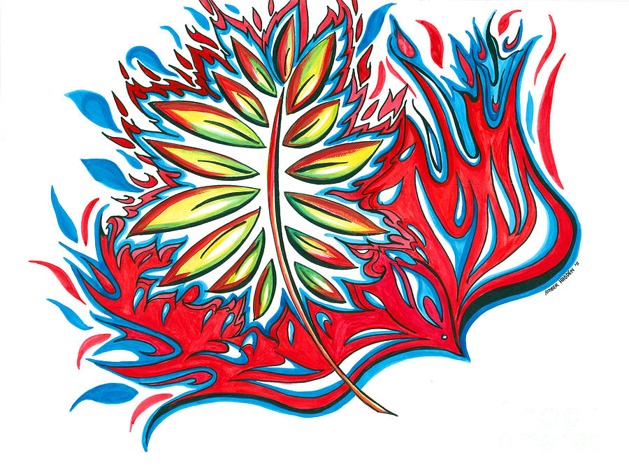 Fire Painting - Holy Ghost Fire by Amber Hadden