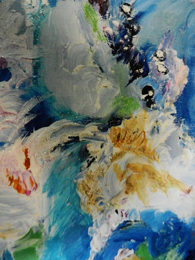 Abstract Painting Painting - Holy Horse Plop by Marina R Vladis