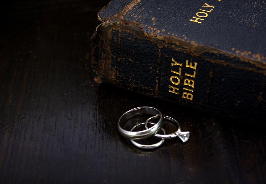 Bible Photograph - Holy Matrimony by Lynnette Johns
