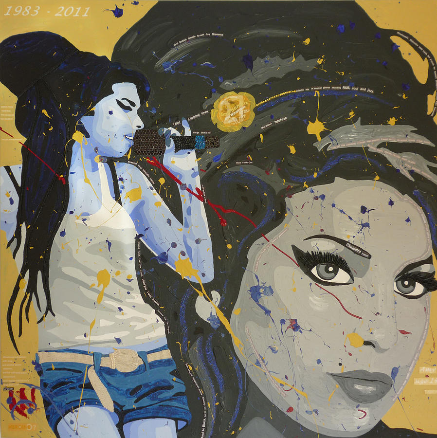Amy Winehouse Foundation Mixed Media - Homage To Amy by Claire  Milner