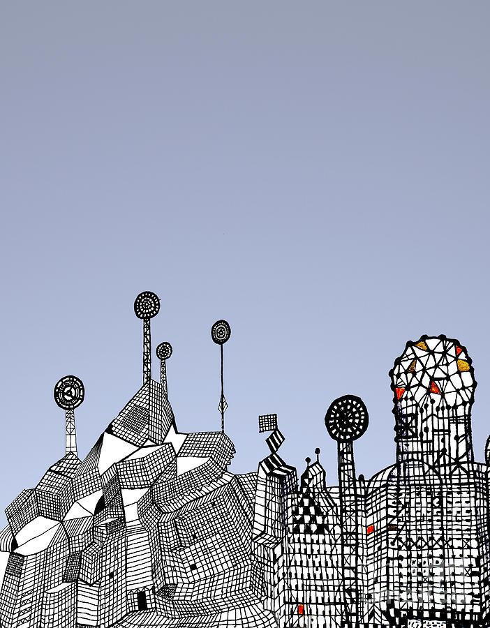 Gaudi Museum Digital Art - Homage To Gaudi by Andy  Mercer