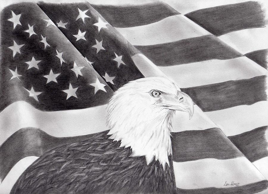 Home Of The Brave Drawing by Lou Knapp
