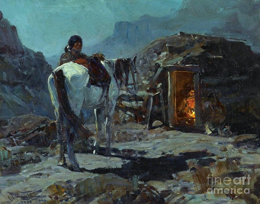 Pd Painting - Home Of The Navajo by Pg Reproductions