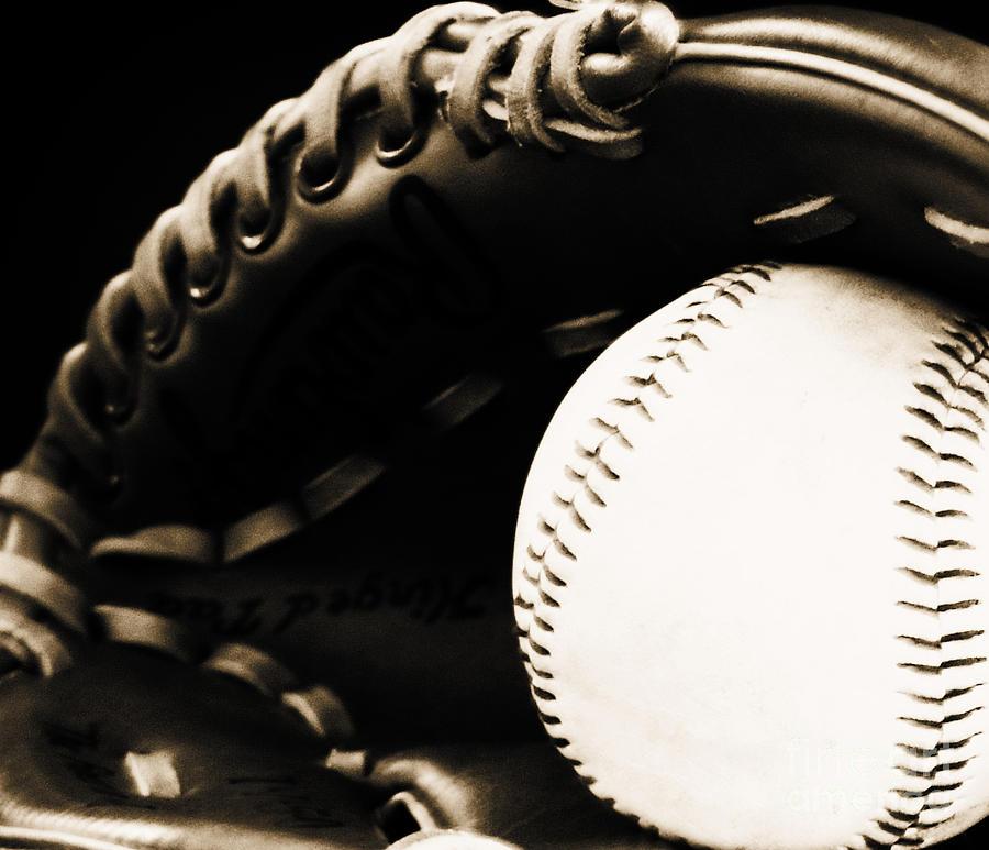 Baseball Photograph - Home Run by Lj Lambert