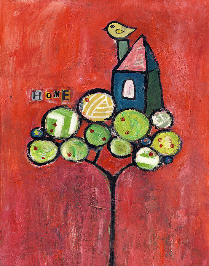 Tree Painting - Home by Susie Lubell