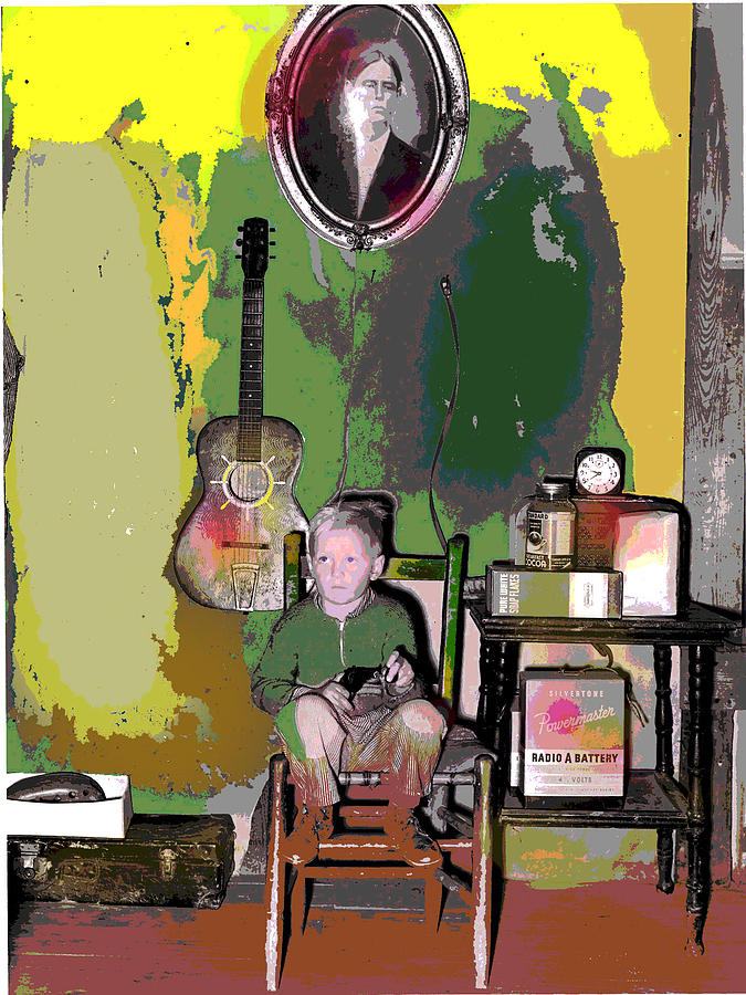 Young Boy Mixed Media - Home Sweet Home by Charles Shoup