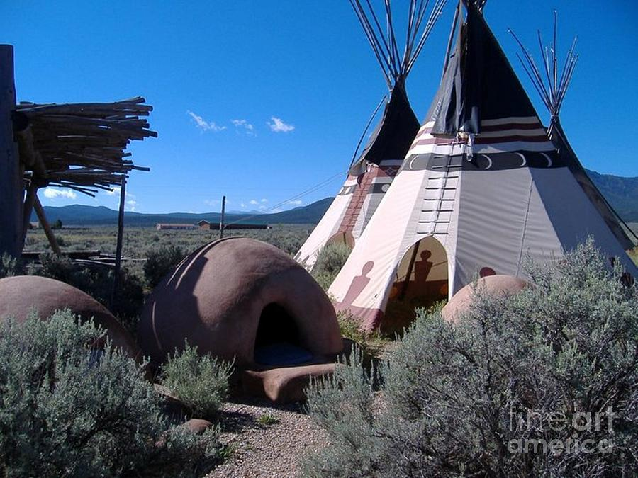 Teepee Photograph - Home Sweet Teepee by Donna Parlow