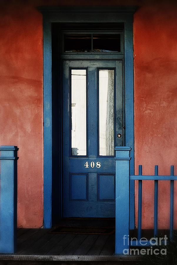 Door Photograph - Homecoming Blues by Tamara Pruessner