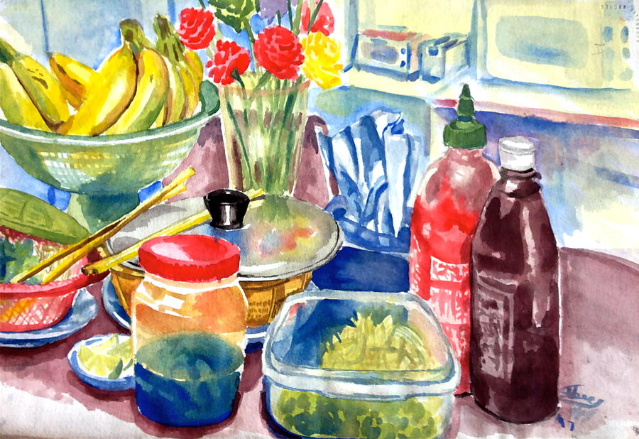 Food Painting - Homemade Pho by Mike N