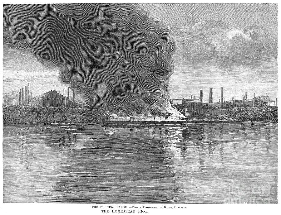 Homestead Strike, 1892 Photograph by Granger