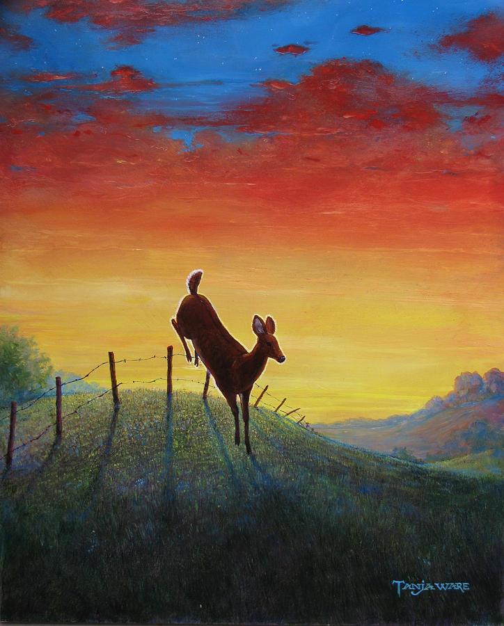 Deer Painting - Homeward Bound by Tanja Ware