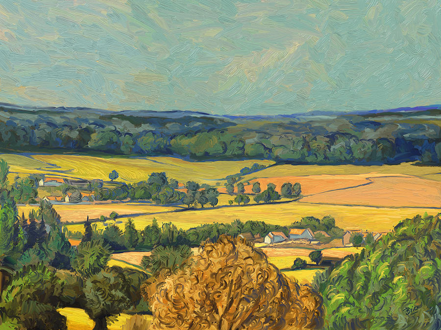 South Limburg Painting - Hommage To Vincent Van Gogh - Zuid Limburg by Nop Briex