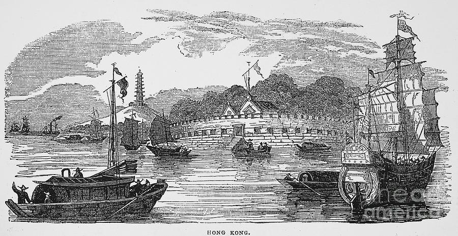 1842 Photograph - Hong Kong: Harbor, 1842 by Granger