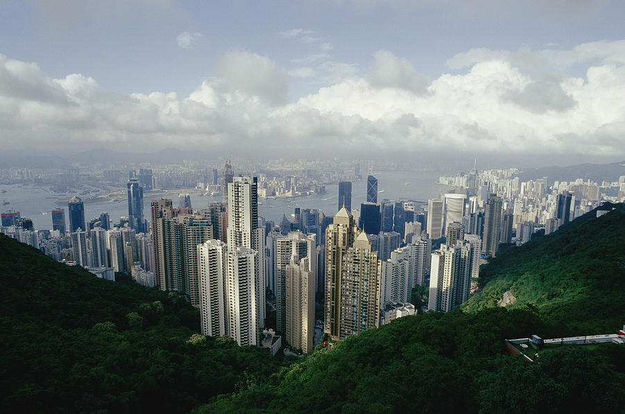 Asia Photograph - Hong Kong Island And The Bay by Jason Edwards