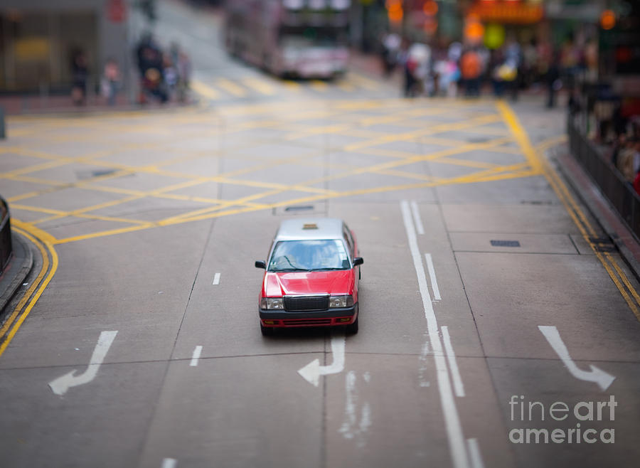 Asia Photograph - Hong Kong Taxicab by Ei Katsumata