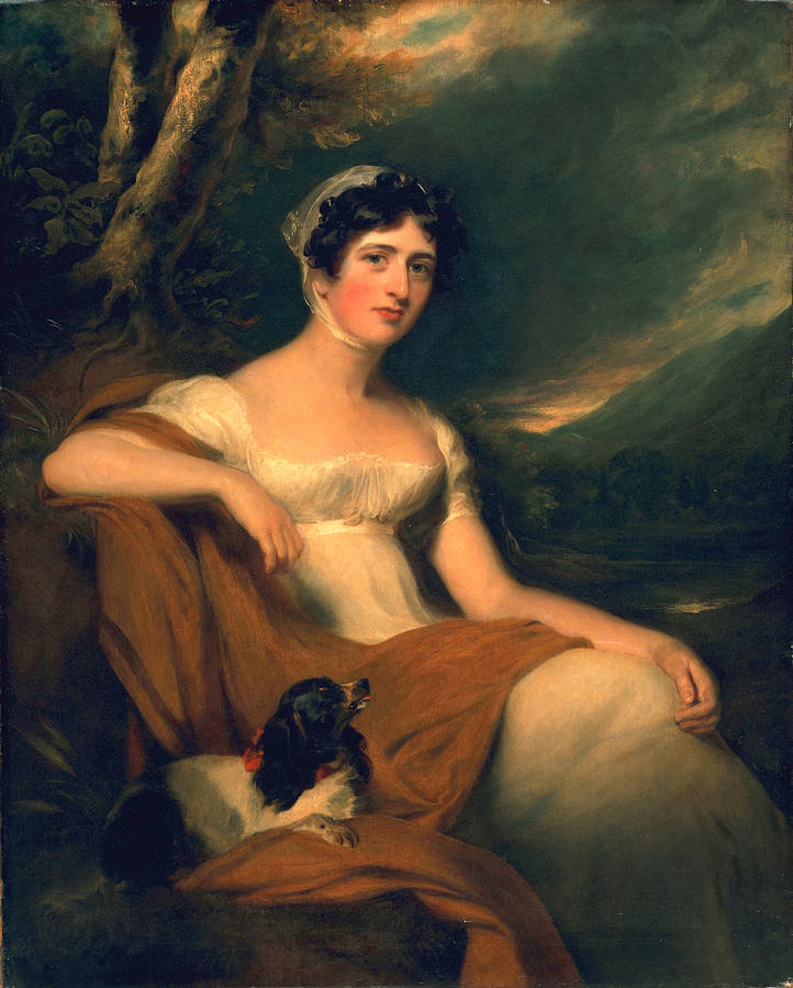 Female Painting - Honorable Emma Cunliffe Later Emma Cunliffe-offley by Thomas Lawrence