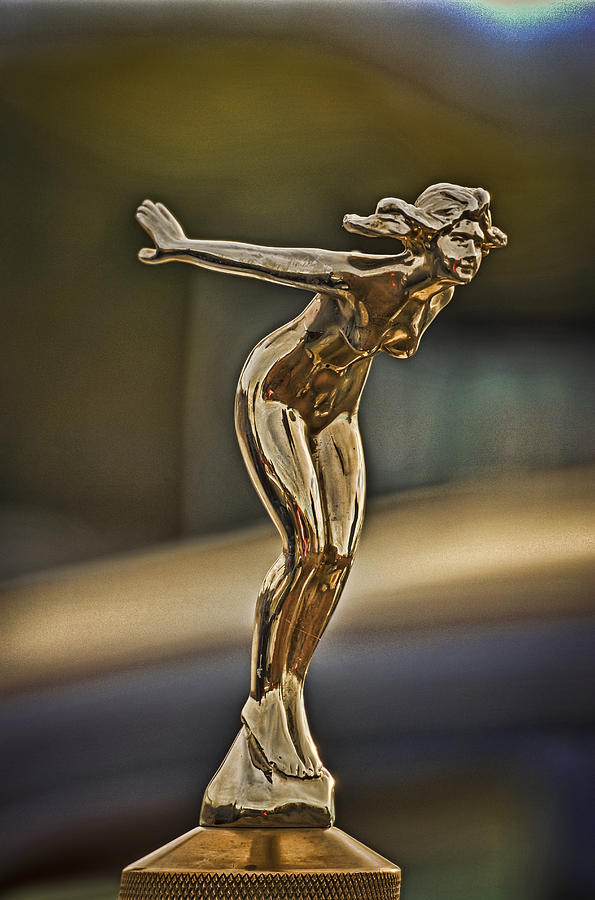 Vintage Photograph - Hood Ornament by Rene Martens