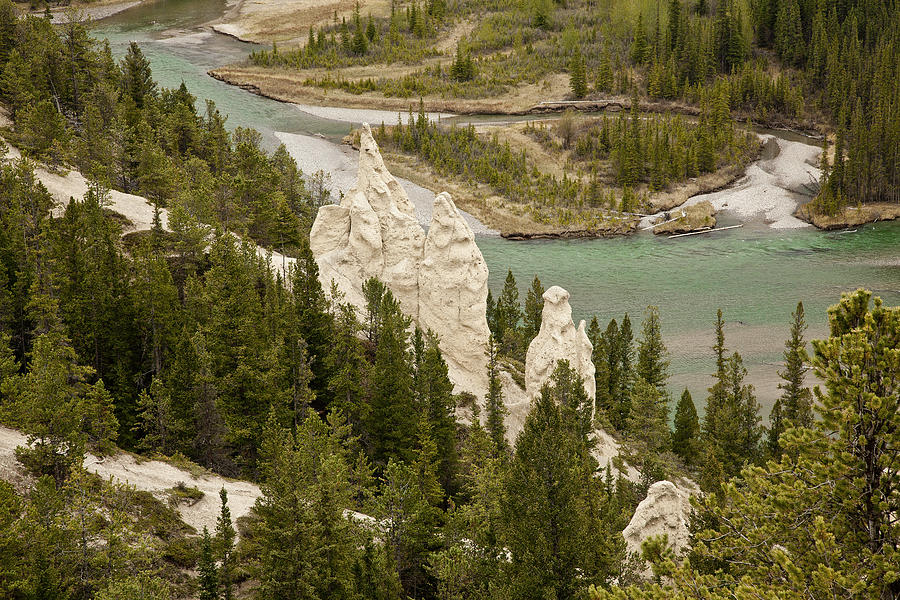 Canadian Rockies Photograph - Hoodoos 1619 by Larry Roberson