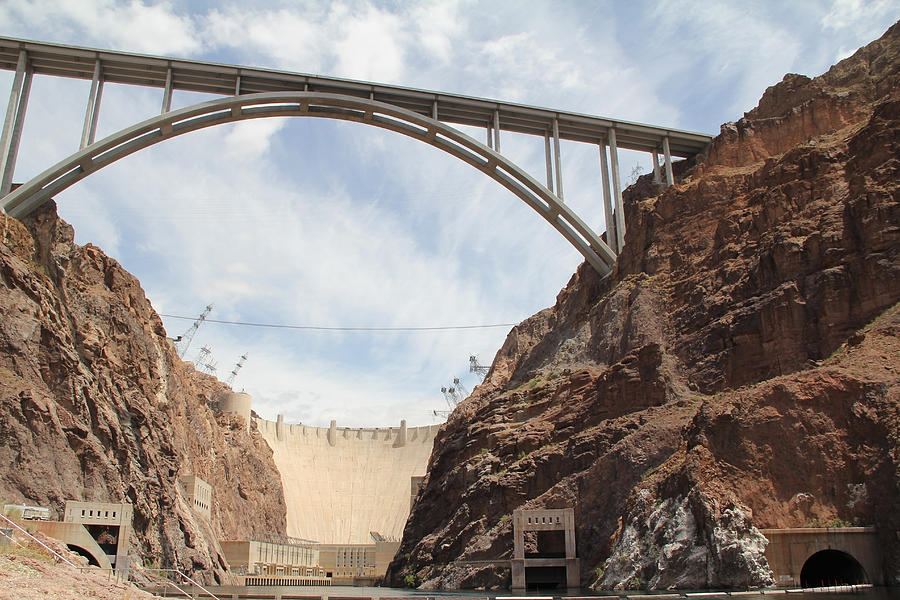 Aerial Photograph - Hoover Dam by Kim French