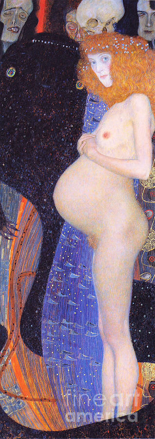 Pd. Reproduction Painting - Hope I 1903 By Gustav Klimt by Pg Reproductions