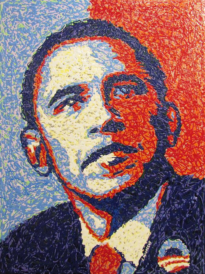 President Barack Obama Painting - Hope Is Still There by Eric McGreevy